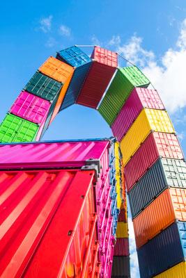 Eines der meistfotografiertesten Kunstwerke: Catènes de containers von Vincent Ganivet.