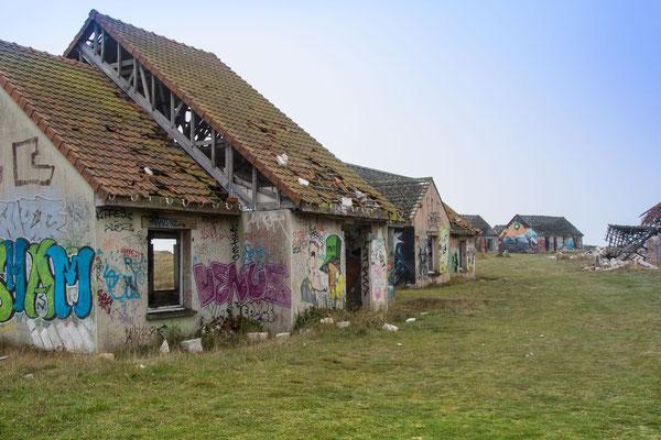 """Village Fantôme"" in Pirou-Plage, Geisterdorf, Normandie"