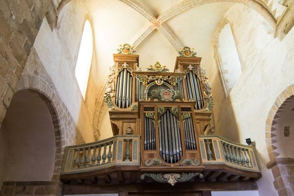 Die barocke Orgel stammt aus der Kathedrale von Chambéry