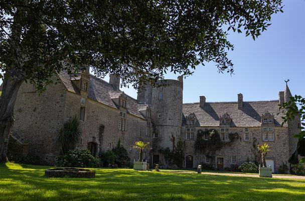 Der Chateau im Herzen des Botanischen Gartens von Vauville