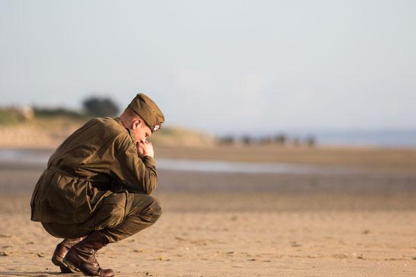 Eindrückliche Momente bei der Zeremonie auf Utah Beach in der Normandie.