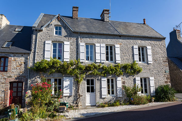 Charakteristisches Steinhaus in einem der Teilorte von Retgnéville-sur-Mer