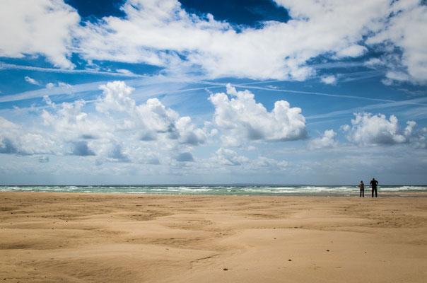 Strand in Hatainville – bis zum Horizont und zurück.