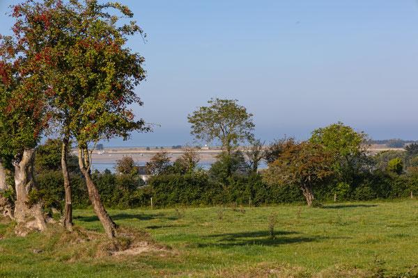 Noch mehr Aussicht auf dem kleinen Rundweg bei Regnéville in der Manche