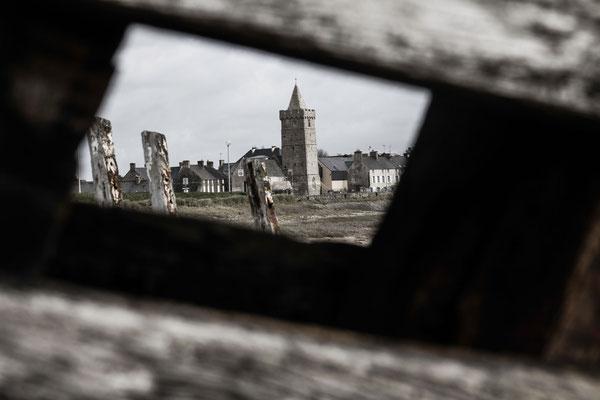 Der Klassiker - vom Schiffswrack gerahmte Kirche Notre Dame