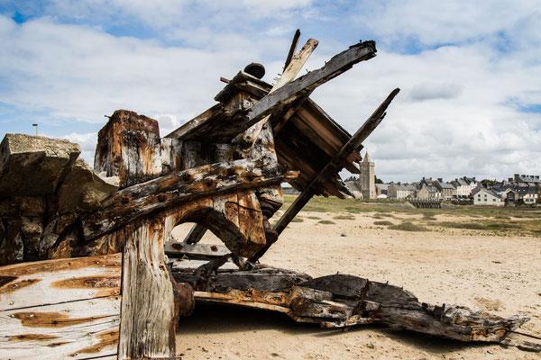 Die letzten Trümmer des Schiffswracks – Sommer 2017