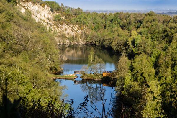 Der See am Mont Castre