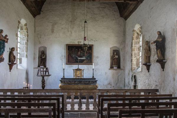 Sankt-Lorenz-Kapelle im Schloss Pirou.
