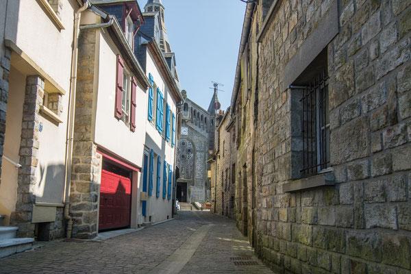Mittelalterliche Gasse in Domfront.