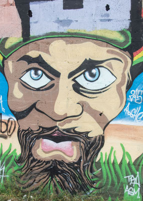 """""""Village Fantôme"""" in Pirou-Plage, Graffiti, Normandie"""