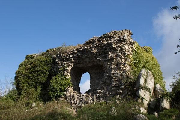 Die Burgruine am Mont Castre