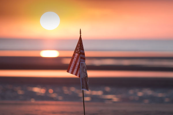 D-Day-Gedenkveranstaltung an Utah Beach am Morgen des 6. Juni 2019.