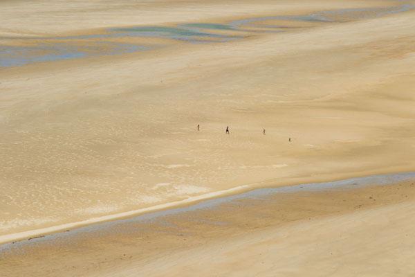 Blick vom Cap Cateret auf den Strand.