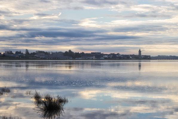 Portbail – Ortsansicht vom Village du Havre bei grandes marées