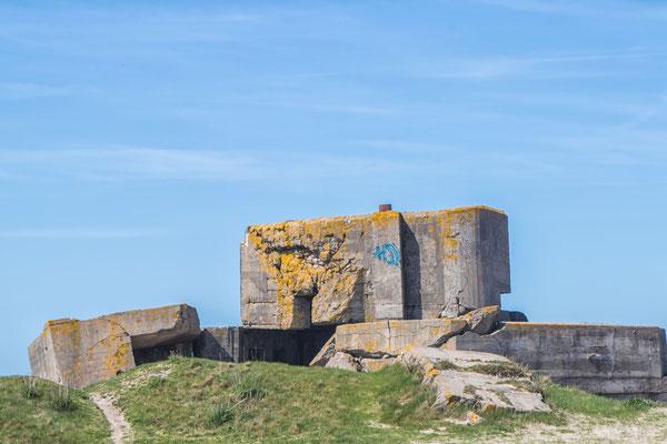 Die Bunker des Atlantikwalls wurden im Laufe der Zeit zu bizarren Kunstwerken.