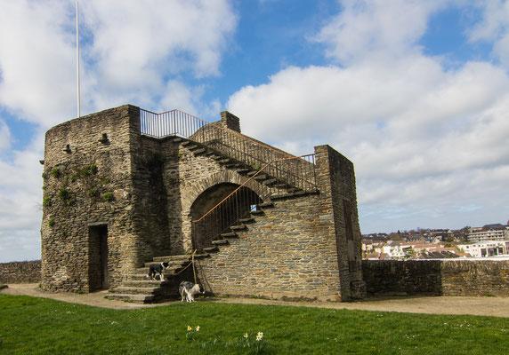 Die Stadtbefestigungsanlage von Saint Lô ist in Teilen erhalten.