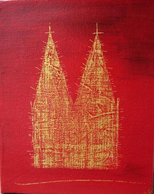 Dom  Acryl auf Leinwand (BxH)  18x24cm