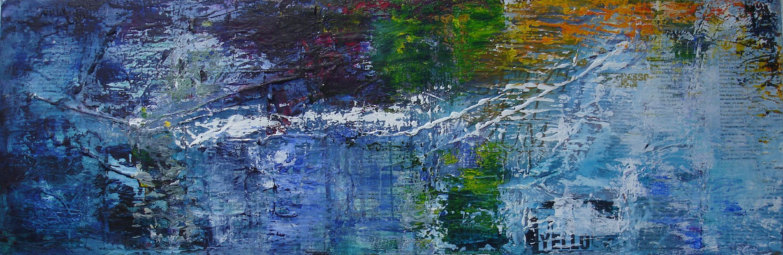 Yello Acryl auf Leinwand (BxH)     90x30cm
