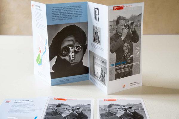 """Flyer und Einladungskarten für die Ausstellung """"Das zweite Auge"""", Städtisches Museum Braunschweig"""