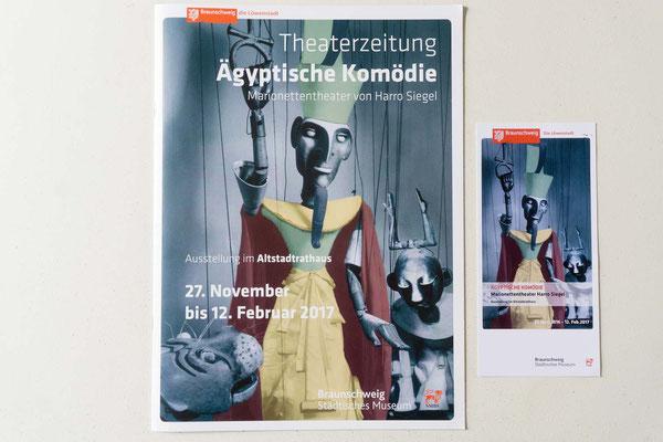 """Theaterzeitung zu der Ausstellung von """"Harry Siegel"""" für das Städtische Museum Braunschweig"""