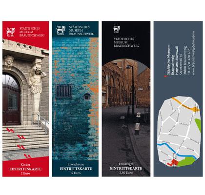 Eintrittskarten und Stadtplan für das Städtische Museum Braunschweig