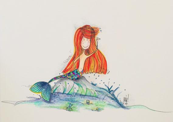Illustrationen Unterwasserwelten, Meer, Muscheln