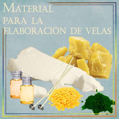 Material para la elaboración de velas