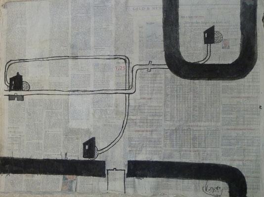 Straßen von Penig  (2011 ) (50 cm x70 cm )1) Blatt 6
