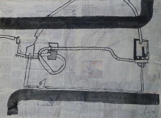 Straßen von Penig  (2011) (50 cm x70 cm )  Blatt 2