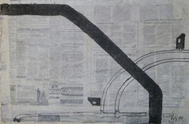 Straßen von Penig  (50 cm x70 cm ) (2011) Blatt 1