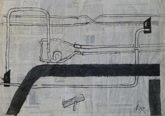 Straßen von Penig  (50 cm x70 cm )  (2011) Blatt 4