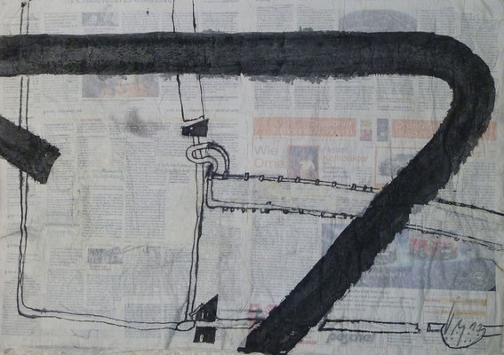 Straßen von Penig  (2011) (50 cm x70 cm ) Blatt 3