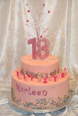 Eine Torte zum 18. Geburtstag