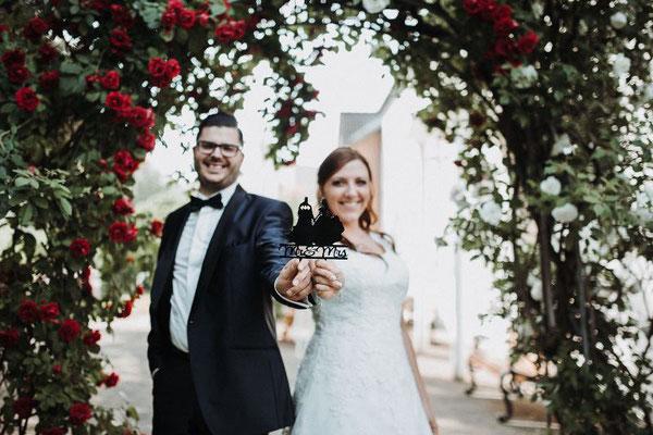 Das stolze Brautpaar
