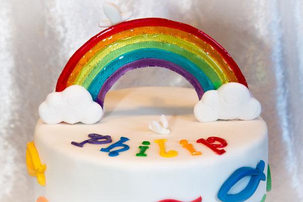 Ein Regenbogen aus Zucker