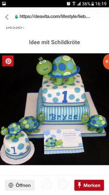 So ähnlich sollte die Schildkrötentorte bitte aussehen :)