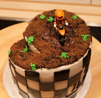 Motoocross Torte von oben