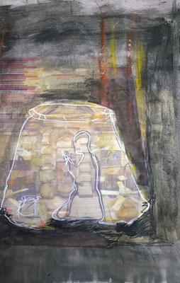 """""""Licht im Dunkel"""" 2016,  40x30 cm"""