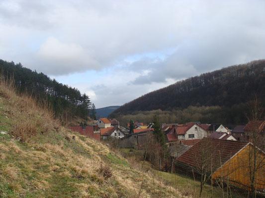 Das Örtchen Liebenstein befindet sich in einem Tal zwischen Arnstadt und Ilmenau, eine Durchfahrtstraße zur nahen Talsperre. Nicht zu verwechseln mit dem Kurort Bad Liebenstein, wo man als Tourist anlanden könnte.