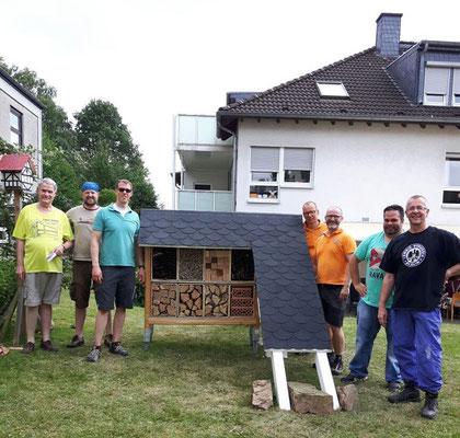Insektenhotel und Bau-Team