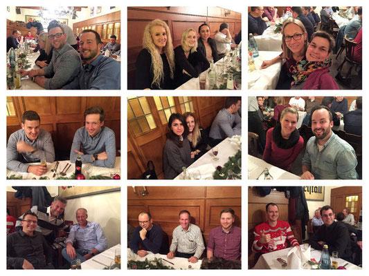 Collage Weihnachtsfeier