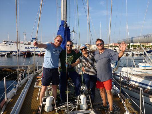 Geschafft, Ankunft in Carloforte, Sardinien