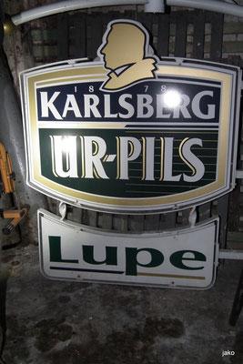 Logo der ehemaligen Kneipe Lupe
