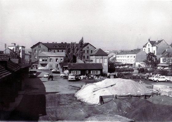 Dudweiler Bauhof um 1970, Rückseite Marktschule