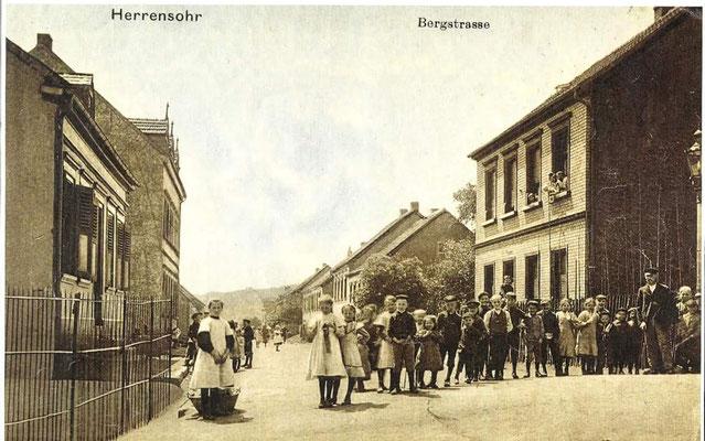 Herrensohr 1920er Jahre, Bergstraße