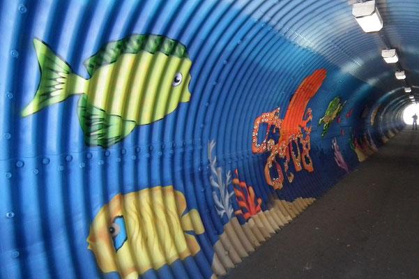 Graffitikunst Herrensohrer Tunnel