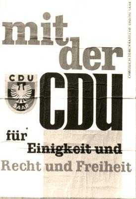 Wahlplakat Abtimmung 1955