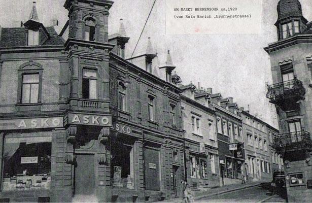 Herrensohr Marktstraße 1920