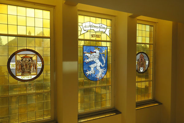 Rathausfenster im Treppenhaus