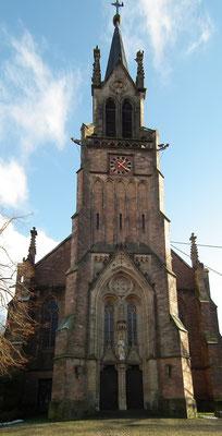 Dudweiler, Pfarrkirche, St. Marien, Vorderansicht